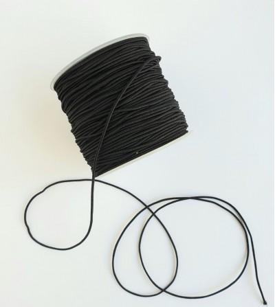 Cordón elástico 0,8mm negro