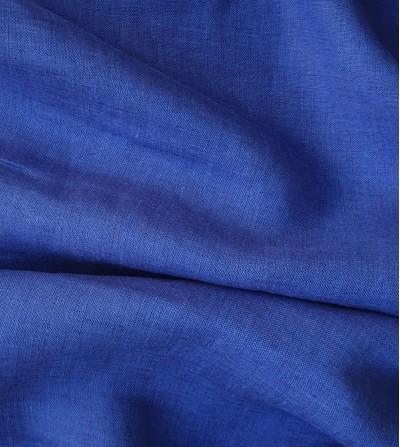Tela de lino 100% azul cobalto