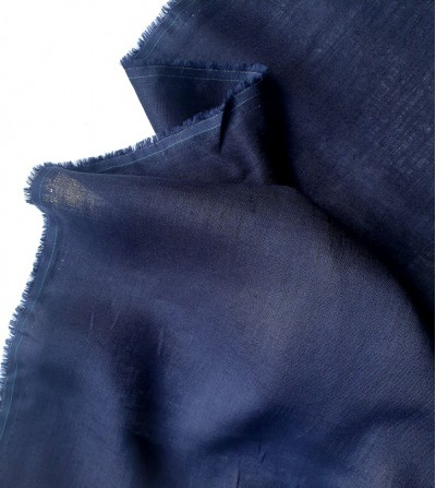 Tela de lino 100% azul marino