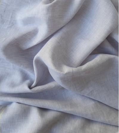 Tela de lino 100% gris claro