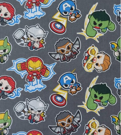 Tela de patchwork Marvel...