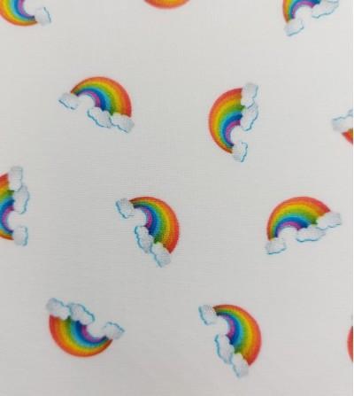 Popelín de algodón arco iris
