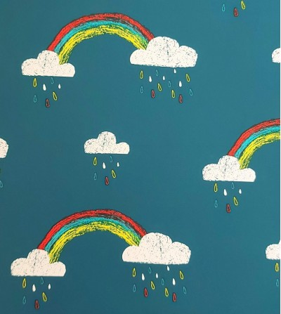 Tela impermeable arco iris