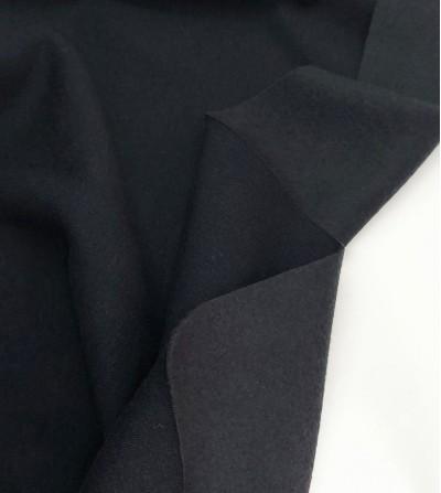 Punto sudadera afelpada negro