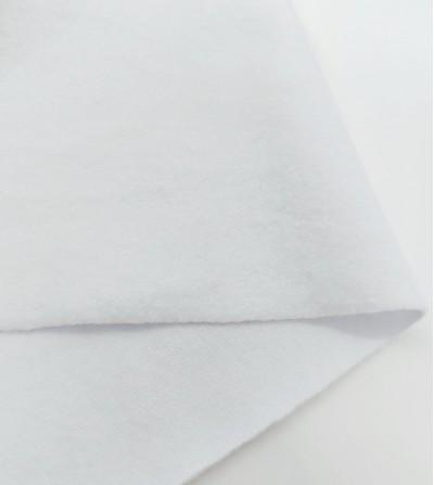 Punto sudadera afelpada blanco