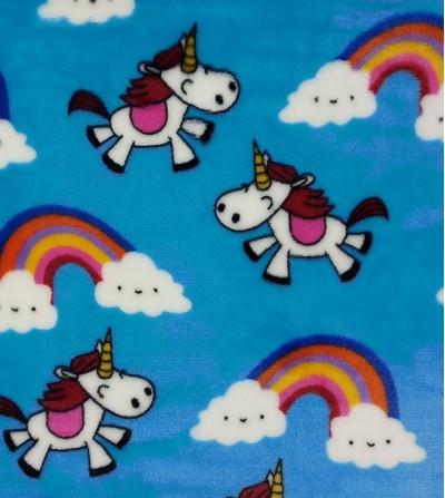 Coralina estampada unicornios