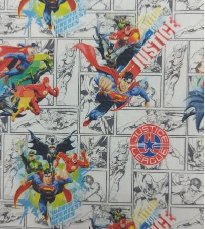 Tela de algodón Justice League