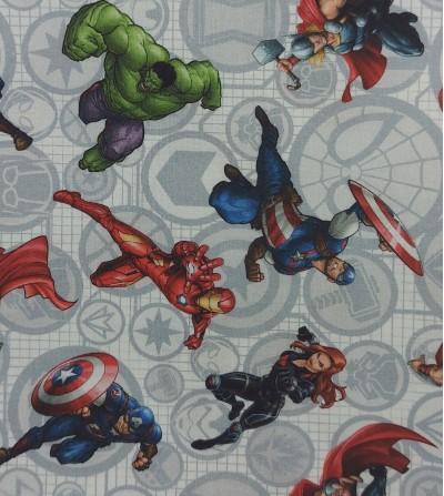 Tela de algodón superhéroes