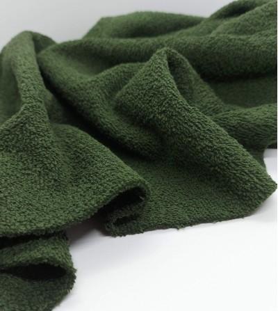 Tela de rizo verde
