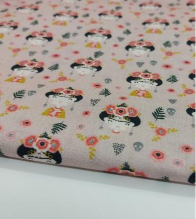 Tela de algodón Frida - rosa
