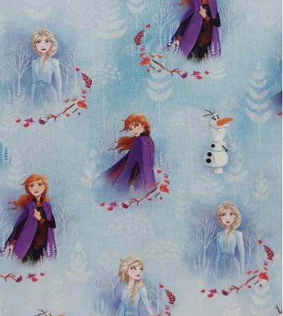 Tela de algodón Frozen Elsa...