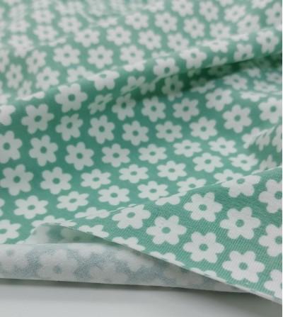 Tela punto de algodón verde...