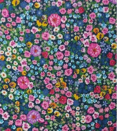 Popelín de algodón flor...