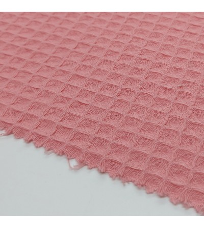 Tela waffle piqué rosa
