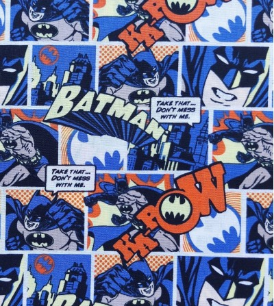Tela de patchwork Batman comic